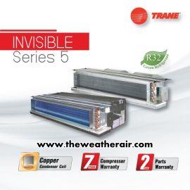 แอร์ Trane เปลือย (Concealed Duct Type) เบอร์ 5 น้ำยา R32 ต่อท่อดักส์ไม่เกิน 2 เมตร รุ่น INVISIBLE ขนาด 13,000BTU-40,500BTU