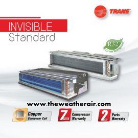 แอร์ Trane เปลือย (Concealed Duct Type) น้ำยา R32 ต่อท่อดักส์ 2-5 เมตร รุ่น INVISIBLE Standard ขนาด 12,000BTU-60,000BTU
