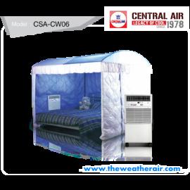 แอร์มุ้ง Central Air (Space Air Type) รีโมทไร้สาย โครงเหล็ก และ มุ้ง ครบชุด น้ำยา R22 รุ่น CSA-CW06 ขนาด 6,000BTU