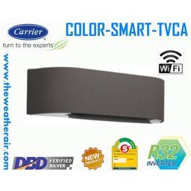 แอร์ Carrier COLOR SMART INVERTER (INVERTER Wall Type) เบอร์ 5 น้ำยา R32 รุ่น TVCA ขนาด 9,200BTU-18,000BTU