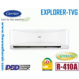 แอร์ Carrier ติดผนังอินเวอร์เตอร์ (INVERTER Wall Type) เบอร์ 5 น้ำยา R410A รุ่น TVG ขนาด 12,492BTU-17,216BTU