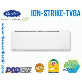 แอร์ Carrier ION STRIKE INVERTER (INVERTER Wall Type) (เบอร์ 5) น้ำยา R32 รุ่น TVBA ขนาด 9,200BTU-20,400BTU