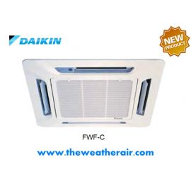 แอร์ Daikin คอย์น้ำเย็น ชนิดสี่ทิศทาง (Cassette Chilled Water Cooled Type) รุ่น FWF, FWK ขนาด 8,500BTU-43,000BTU