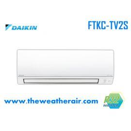 แอร์ Daikin ติดผนังอินเวอร์เตอร์ (INVERTER Wall Type) เบอร์ 5 น้ำยา R32 รุ่น SUPER SMILE 2 FTKC ขนาด 9,000BTU-24,200BTU