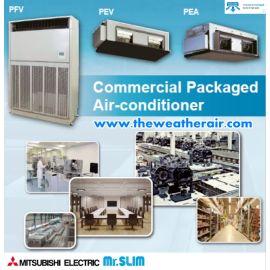 แอร์ Mitsubishi Electric ตู้ตั้งพื้น, ต่อท่อลมอินเวอร์เตอร์ (INVERTER Ducted & FloorStanding Type) น้ำยา R410a รุ่น PFV, PEV, PEA  ขนาด 80,000BTU-191,000BTU
