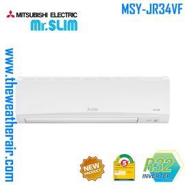 แอร์ Mitsubishi Electric Mr.Slim ติดผนังอินเวอร์เตอร์ (INVERTER Wall type) น้ำยา R32 รุ่น MSY-JR34VF - Wide&Long ขนาด 33,096BTU