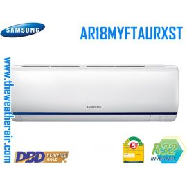 แอร์ Samsung ติดผนังอินเวอร์เตอร์ (INVERTER Wall Type) WIFI PM-2.5 เบอร์ 5 น้ำยา R32 รุ่น AR18MYFTAURXST ขนาด 17,000BTU