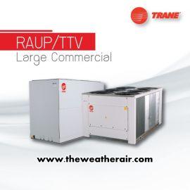 แอร์ Trane ต่อท่อลมขนาดใหญ่ (Duct Type) น้ำยา R22, R407c รุ่น RAUP LARGE COMMERCIAL ขนาด 278,000BTU-658,000BTU