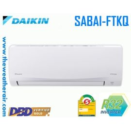 แอร์ Daikin ติดผนังอินเวอร์เตอร์ (INVERTER Wall Type) เบอร์ 5 น้ำยา R32 รุ่น SABAI PLUS FTKQ ขนาด 9,000BTU-20,500BTU