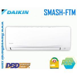 แอร์ Daikin ติดผนัง (Wall Type) เบอร์ 5 น้ำยา R32 รุ่น Smash FTM ขนาด 9,000BTU-24,500BTU