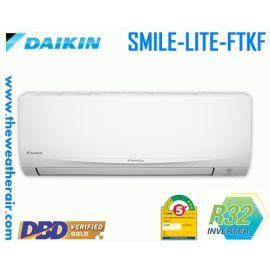 แอร์ Daikin ติดผนังอินเวอร์เตอร์ (INVERTER Wall Type) เบอร์ 5 น้ำยา R32 รุ่น SMILE LITE FTKF ขนาด 9000BTU-20500BTU