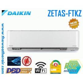 แอร์ Daikin ติดผนังอินเวอร์เตอร์ (INVERTER Wall Type) เบอร์ 5 น้ำยา R32 รุ่น ZETAS FTKZ ขนาด 9,000BTU-24,000BTU