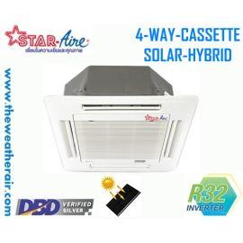แอร์ Star Aire โซล่าเซลล์ แบบสี่ทิศทาง อินเวอร์เตอร์ (INVERTER Solar Cell Hybrid 4 Way Cassette Type) น้ำยา R32 รุ่น CR-IV/DCC-IV ขนาด 18,100BTU-36,200BTU