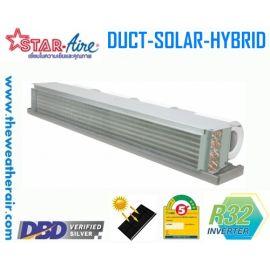 แอร์ Star Aire โซล่าเซลล์ แบบเปลือย อินเวอร์เตอร์ (INVERTER Solar Cell Hybrid Concealed Type) น้ำยา R32 รุ่น CR/DCR ขนาด 13,000BTU-36,000BTU