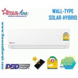 แอร์ Star Aire โซล่าเซลล์ แบบติดผนัง อินเวอร์เตอร์ (INVERTER Solar Cell Hybrid Wall Type) น้ำยา R32 รุ่น CR-IV/DE-AIV ขนาด 13,102BTU-25,418BTU